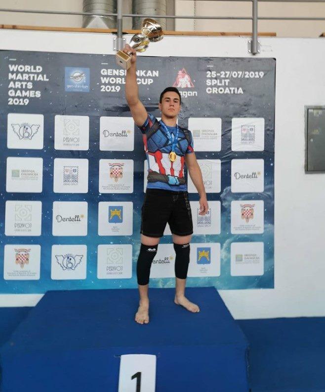 Marko Ančić WMA Split BJJ NO GI Champion Best Fighter Trophy